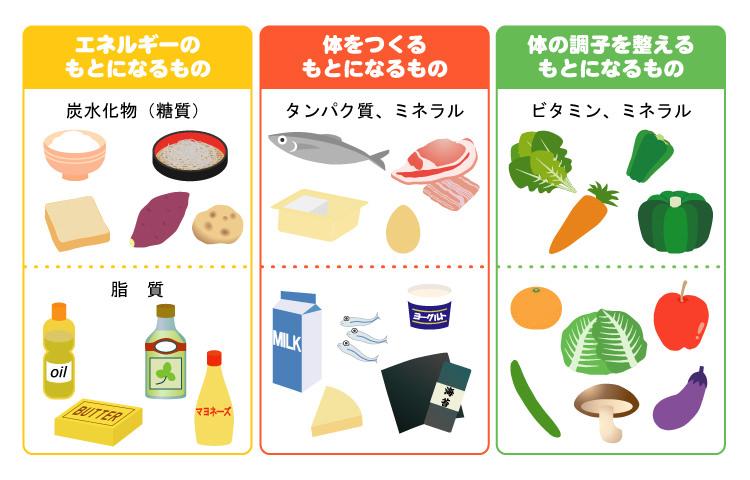 食べ物の3つの働き