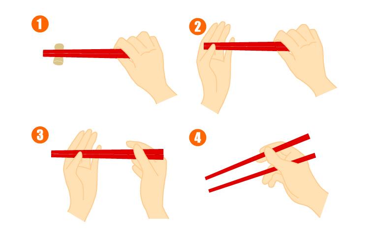 お箸の取り上げ方のポイント