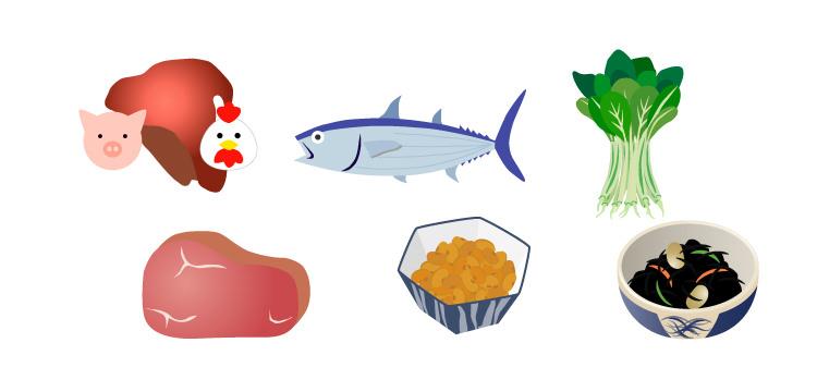 鉄を多く含む食品