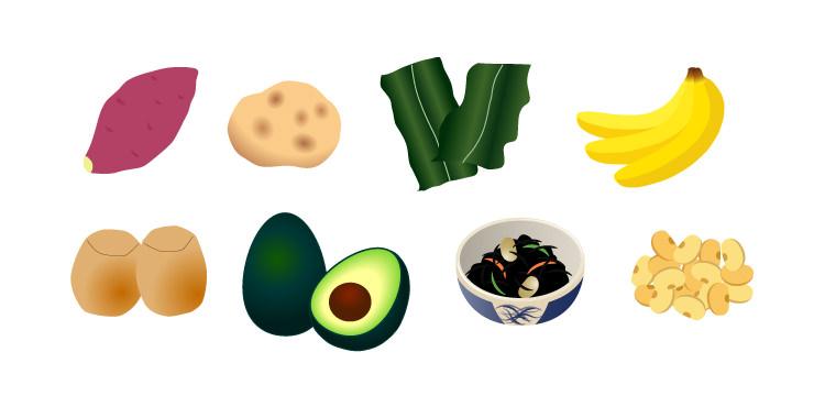 カリウムを多く含む食品