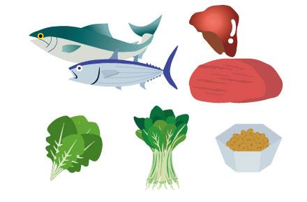 鉄分の含まれる食材